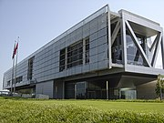 William J. Clinton Presidential Library, Little Rock, Arkansas (exterior view - 2007)