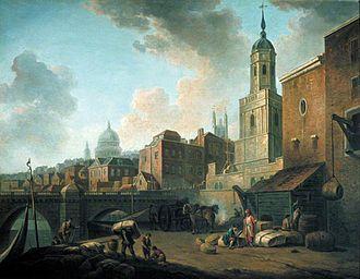 Fresh Wharf - Fresh Wharf, near London Bridge, c. 1762, by William Marlow