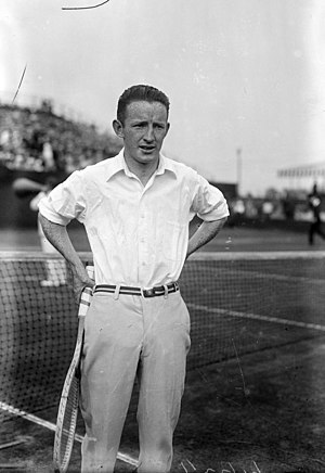 "Bill Johnston (tennis) - Johnston in 1916 in his match against Richard ""Dick"" Norris Williams II"