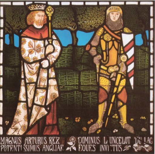 William Morris King Arthur and Sir Lancelot