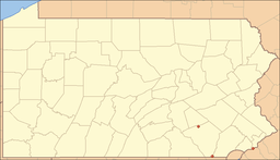 Location of the three tracts of William Penn State Forest in Pennsylvania