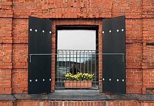 English: Window in Porvoo.