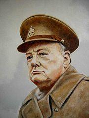 Winston Churchill, Chamberlain's main critic turned loyal minister and successor.