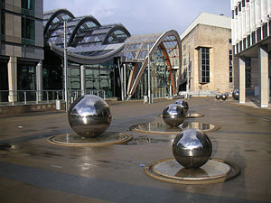 Sheffield Winter Garden - Exterior with the steel balls