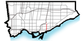 Woodbine Ave map (Toronto).png