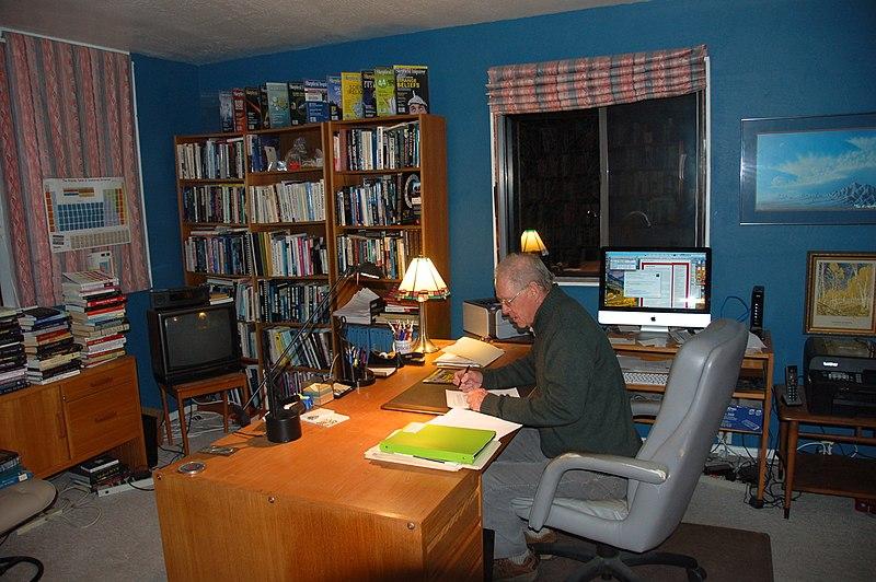 Working in Ken Frazier%27s office.JPG