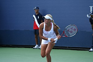 Aleksandra Wozniak - Wozniak in her first round match against Granville at the 2009 US Open