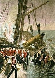 The sinking of the Birkenhead