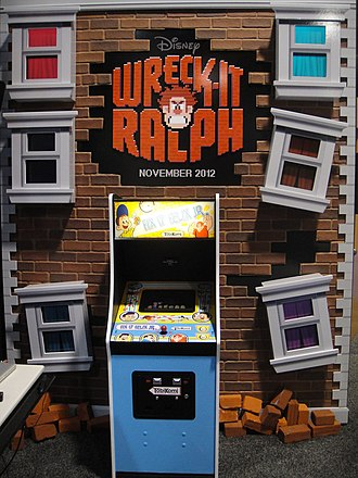 Wreck-It Ralph - Disney promoted the film at the 2012 E3 convention using a mock arcade cabinet.
