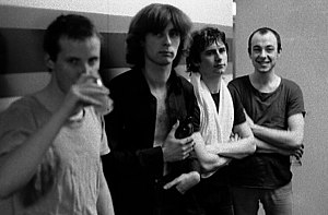Moulding (second from left) with XTC