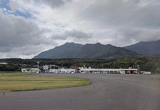 Yakushima Airport as seen just after landing