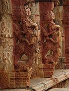 Yali pillars3 at Bhoganandishvara group of temples, Chikkaballapur district