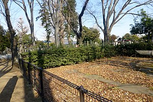 Yanaka Five-Storied Pagoda Double-Suicide Arson Case - The remaining foundation stones.
