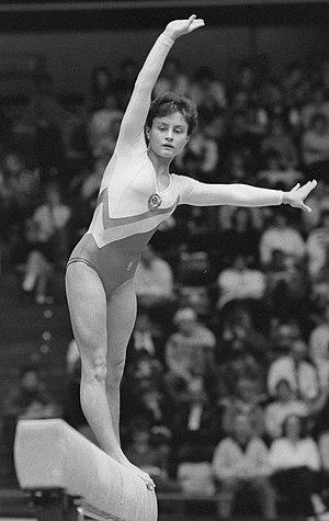 Yelena Shushunova - Yelena Shushunova in 1987