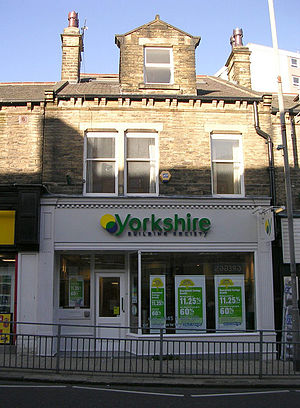 Yorkshire Building Society - The Yorkshire Building Society branch in Farsley
