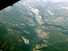 Veduta aerea della valle di Yosemite.