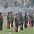 Youth guard signaling exercise at a Pyongyang middle school (10669653895).jpg