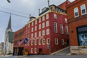 Pottsville, Pennsylvania - The Yuengling Brewery as seen from Mahantongo Street (2016)