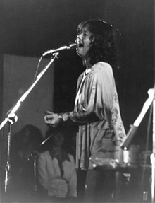 Elliman op tournee met Eric Clapton, San Bernardino, Californië, 15 augustus 1975