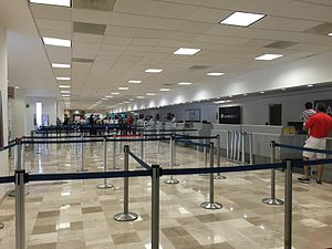 Ixtapa-Zihuatanejo International Airport - Check-in counters at the Airport.
