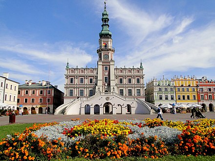 Zamosc in Poland is an example of a utopian ideal town. It was declared a UNESCO World Heritage Site in 1992 Zamosc. Ratusz..jpg