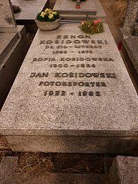 Zenon i Jan Kosidowscy grób.JPG