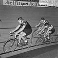 Zesdaagse wielrennen RAI Amsterdam, tweede dag. Peter Post (nummer 5) in aktie, , Bestanddeelnr 923-0700.jpg