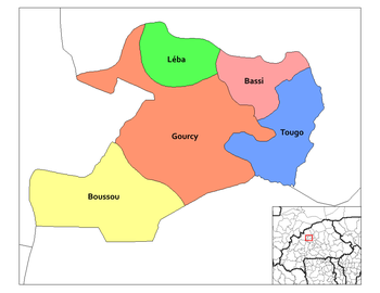 Tougo Department location in the province
