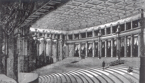 Nineteenth-century theatre - Richard Wagner's Bayreuth Festival Theatre.