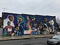 """A Little Help From Our Friends"" (1966; Robert Hieronimus, muralist), Venable Avenue and Greenmount Avenue (southeast corner), Baltimore, MD 21218 (38847956870).jpg"
