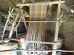 """Iron-age"" loom, Castell Henllys - geograph.org.uk - 272147.jpg"