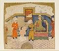"""Zahhak Brought as a Prisoner before Faridun"", Folio from a Shahnama (Book of Kings) MET DP164678.jpg"