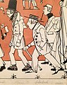 """""""Zug der Düsseldorfer Künstler"""" von 1837, Karikatur seiner malenden Zeitgenossen IV, Andreas Achenbach – Ausschnitt Wilhelm Joseph Heine, Achenbach.jpg"""