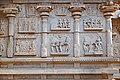 (12) Stone bas relief Ramayana carvings at the Hindu temple Hazara Rama Vishnu Avatars Hampi Karnataka India 2014.jpg