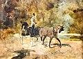 (Albi) Musée Toulouse-Lautrec - Un dog-cart - Toulouse-Lautrec 1880.jpg