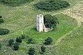 Árpád-kori templom romja a levegőből.jpg