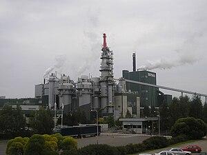Pulp mill - A pulp mill in Äänekoski, Central Finland