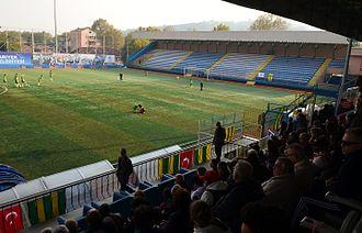 Kireçburnu Spor - A view of the southern side of Çayırbaşı Stadium.