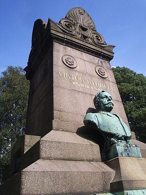 Östra kyrkogården, Gothenburg - The tombstone of Viktor Rydberg.