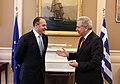 Συνάντηση ΥΠΕΞ Δ. Αβραμόπουλου με E. Hoxhaj (8539143277).jpg