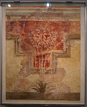 Amnisos - Wall-painting from the villa