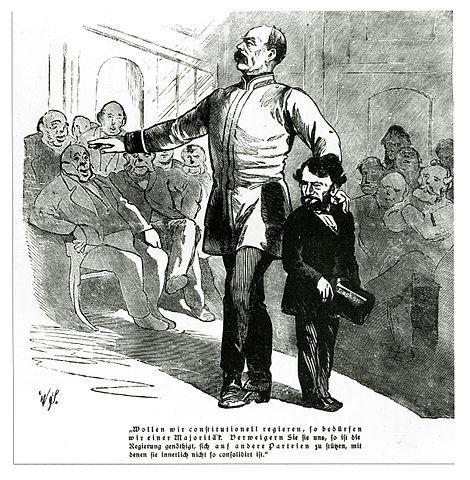 Бисмарк и Ласкер в парламенте