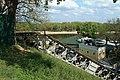 Дэмантаж пешаходнага моста. Баярскі спуск. Гомель, 2015 год.jpg
