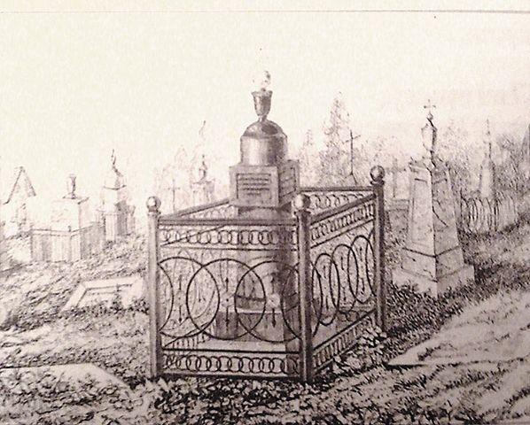 Гравюра первого надгробия на могиле А.В. Кольцова