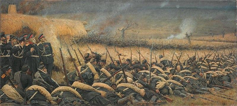 Перед атакой. Под Плевной, 1881