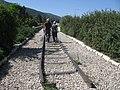 פסי הרכבת על הגשר התורכי בצומת העמקים.JPG