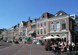 (Haarlem) The Street of Donkere Spaarne, Netherlands