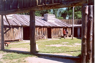 Lewis and Clark Expedition - Reconstruction of Fort Mandan, Lewis and Clark Memorial Park, North Dakota