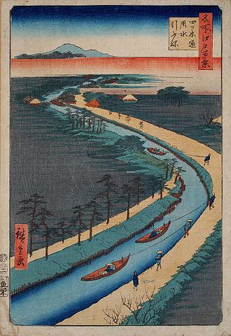 Tone River - One of Tone canals, shown in Hiroshige's Ukiyo-e