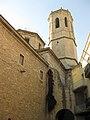 132 Santa Maria de l'Alba, campanar, des de la plaça Major.jpg